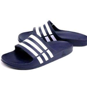 ADIDAS Duramo Navy Blue Slides Sandals NEW
